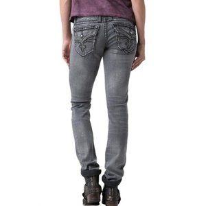 ROCK REVIVAL Jen Straight gray jeans | 27